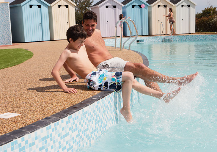 Outdoor pool at Berwick Holiday Park