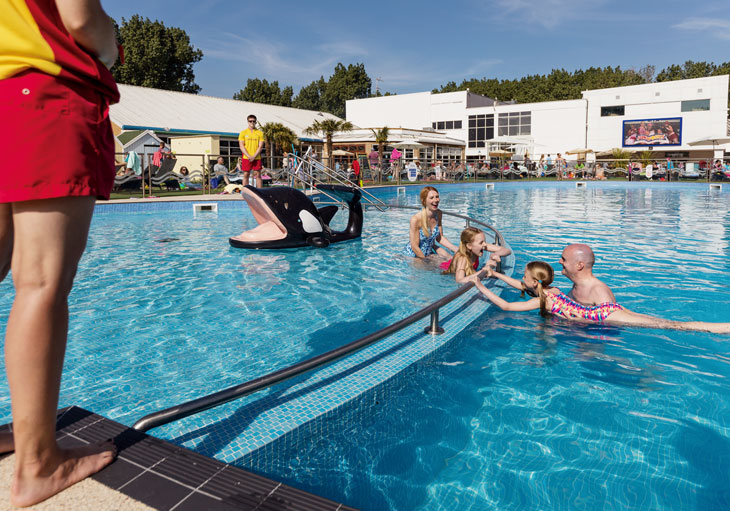 Outdoor pool at Burnham-on-Sea Holiday Village