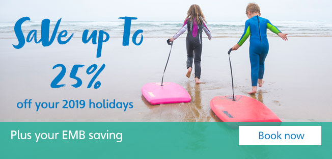 Save up to 25% on 2019 holidays